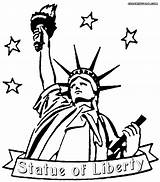 Coloring Liberty Statue Drawing Outline Cartoon Clip Lady Clipart Cliparts York Printable Patriotic Draw Template Library Daniel Tax Clipartmag Sherriallen sketch template