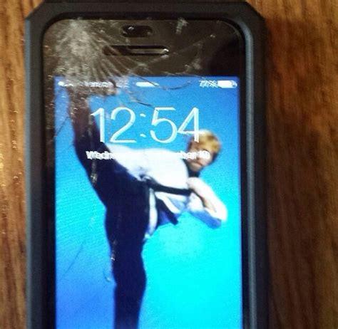 people      cracked phone screens