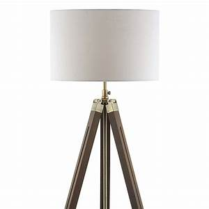 tripod wooden floor lamp and shade imperial lighting With contemporary dark wood floor lamp with shade