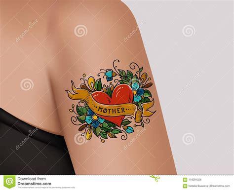 tatuaggi di fiori sul braccio tatuaggio decorativo sul braccio femminile cuore con i