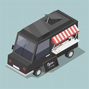 Vector Of Food Truck Service Icon