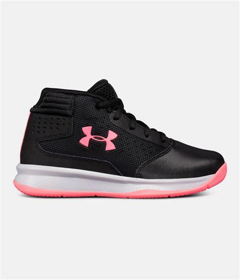 girls pre school ua jet  basketball shoes