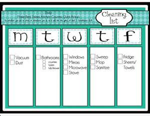 Daily Chore Schedule
