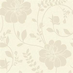 Arthouse Vintage Twilight Cream Floral Metallic Effect ...