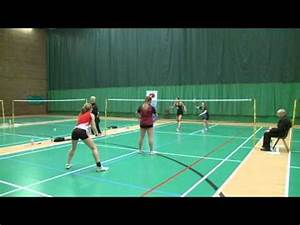 North East Badminton Action from women's doubles final of ...