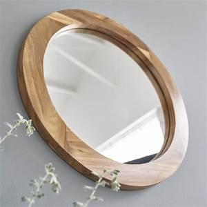 Rond En Bois : miroir rond en bois de teck bois dessus bois dessous ~ Teatrodelosmanantiales.com Idées de Décoration