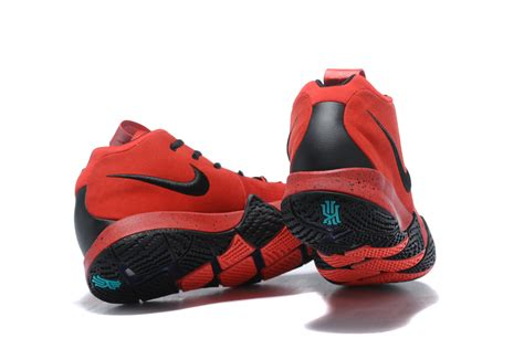 2018 Discount Nike Kyrie 4 Red Black Sneakers For Sale