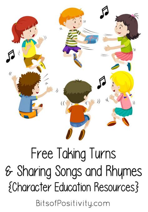 the best children s books about taking turns and 206 | Free Taking Turns and Sharing Songs and Rhymes Character Education Resources