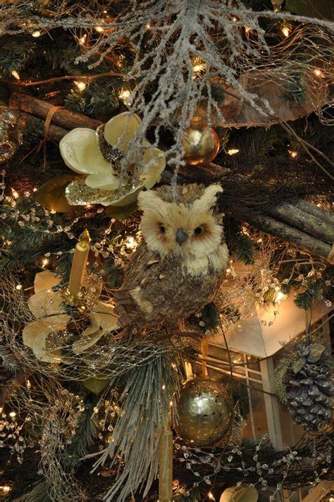 woodland christmas tree decorations trim  tree