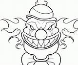 Coloring Evil Clown Pages Joker Creepy Drawing Tattoo Crazy Animal Popular Getdrawings Coloringhome sketch template