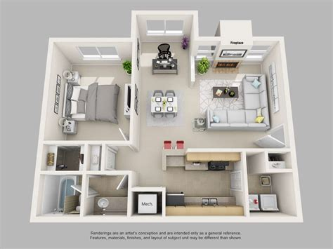 1 Bedroom Apartment Floor Plans by Park On Clairmont Apartments Floor Plans And Models