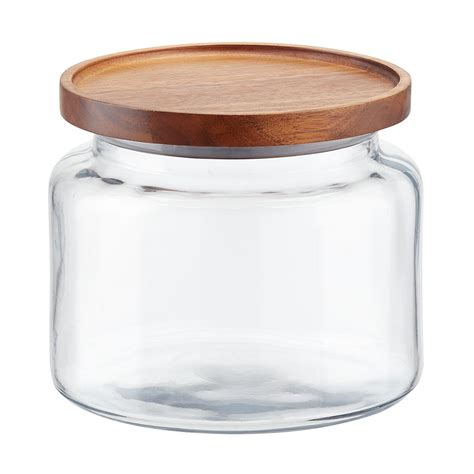 Glass Canisters by Anchor Hocking Montana Glass Canisters With Acacia Lids