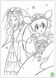 Wedding Peach Coloring Page