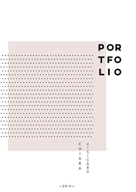 Portfolio Cover (minimal)  Graphic Design Pinterest