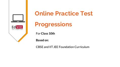 Free Practice Tests For Progression Topic  Class 10 Mathematics