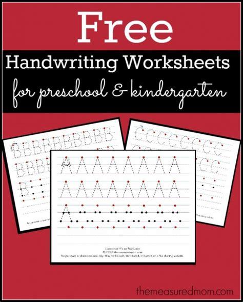 printable handwriting worksheets  preschool
