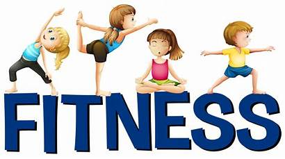 Fitness Clipart Yoga Word Doing Kid Palavra