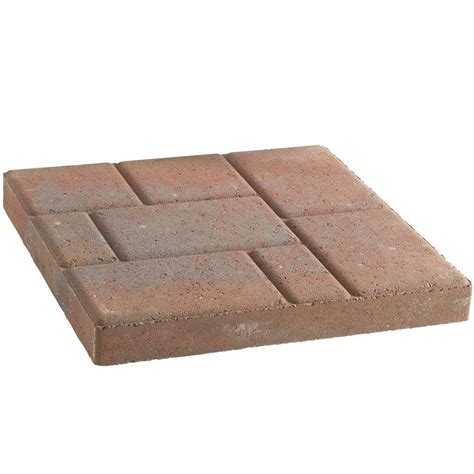 16 x 16 concrete patio pavers pavestone 16 in x 16 in town blend concrete step