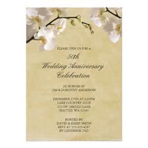 fiftieth wedding anniversary 50th wedding anniversary vintage white orchid invitation superdazzle custom invitations
