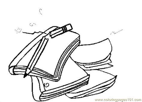 notebook  pencil coloring page coloring pages