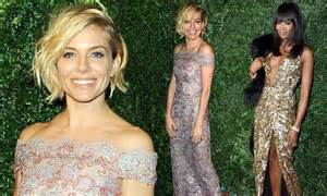 Sienna Miller And Naomi Campbell In Glitter Gowns For Evening Standard Awards Daily Mail Online
