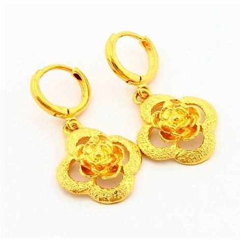 new arrival fashion 24k gp gold plated mens new arrival fashion 24k gp gold plated earring yellow gold