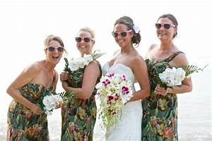 pin by faraway weddings on totally tropical wedding With print bridesmaid dresses for beach wedding