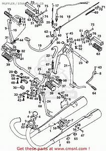 Honda Cb200b 1974 Usa Muffler    Stand    Pedal Cb