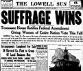 Women's Suffrage Movement timeline   Timetoast timelines