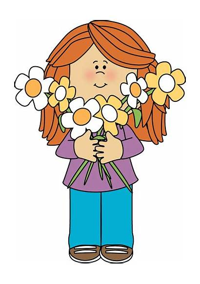 Holding Flowers Flower Bunch Say Mycutegraphics Welcome