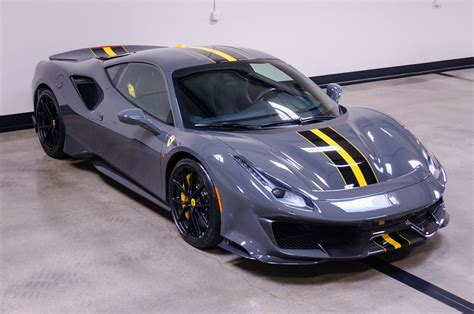 Even among a crop of gorgeous ferraris, this 488 pista would stand out thanks to its modena yellow paint scheme and black racing stripe. 2020 Ferrari 488 Pista - TSG AUTOHAUS - United States - For sale on LuxuryPulse.
