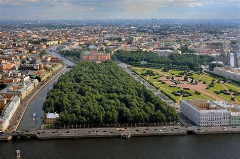 The Most Famous Garden In St Petersburg, Russia