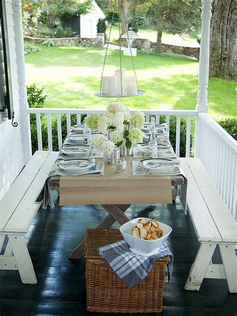 outdoor table ls for porches casual porch and patio dining the white front porches