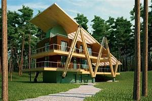 Energy Efficient Grasshopper Shaped House