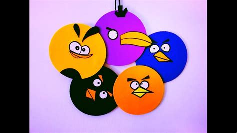 diy angry birds room decor super easy recycle
