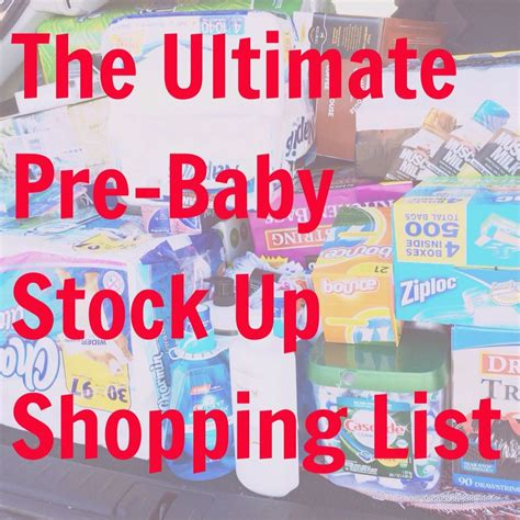 The Best List For Stocking Up Before Baby Includes A