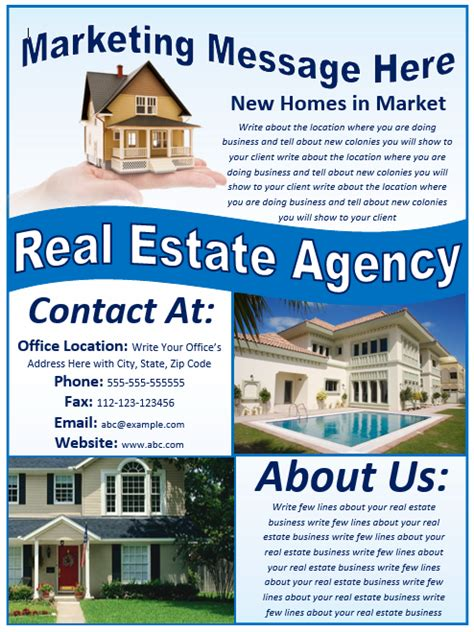 real estate flyer real estate flyer template free template downloads