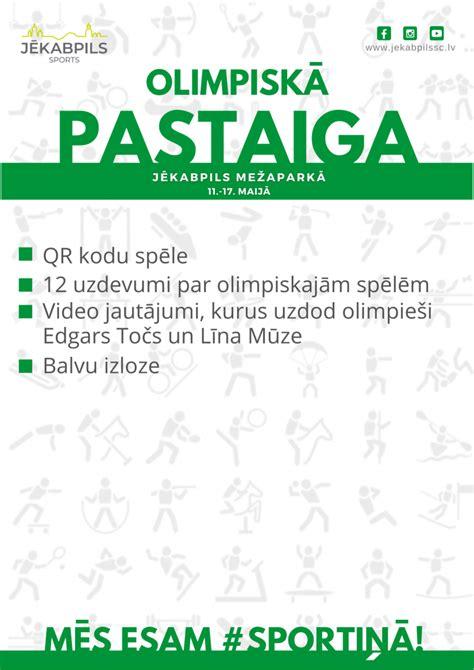Olimpiskā pastaiga Jēkabpils Mežaparkā