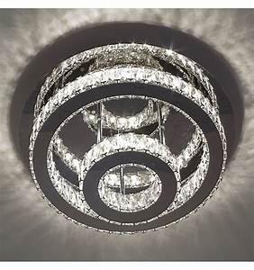 Led Deckenleuchte Kristall : deckenleuchte led kristall 2 kreis design diez ~ Orissabook.com Haus und Dekorationen