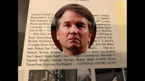 Is Brett Kavanaugh's Yearbook Hiding A Bombshell?