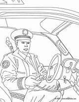 Coloring Police Pages Policeman Popular sketch template