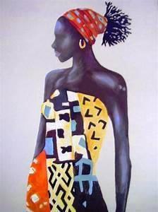 Pintura Moderna y Fotografía Artística : Cuadros Étnicos de Mujeres Africanas