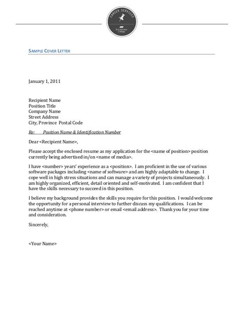 What To Title A Cover Letter by How To Write A Cover Letter