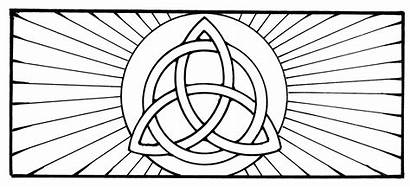 Trinity Holy Stained Coloring Glass Pages Pattern