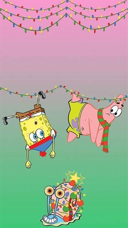 Spongebob Aesthetic Wallpapers Christmas Iphone Patrick Cartoon