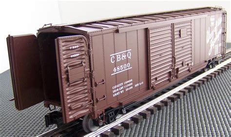 Lionel 6-27221 Cb&q Double Door Boxcar With Operating End