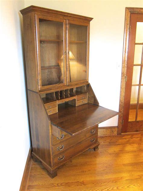 ethan allen furniture secretary desk heirloom maple wood