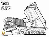 Coloring Pages Truck Highway Construction Etf Boys Tractors Bobcat Colouring Macho sketch template