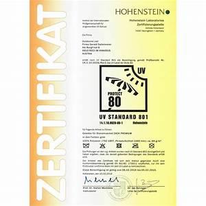Uv Standard 801 Sonnenschirm : zertifizierter uv 80 schutz nach standard 801 f r zack premium zertifikat zack premium gr n ~ Sanjose-hotels-ca.com Haus und Dekorationen