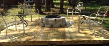 pit on a 12x12 floating deck floating decks